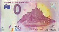 BILLET 0  EURO  ABBAYE DU MONT SAINT MICHEL REVERS 2017-3  NUMERO 20000 DERNIER