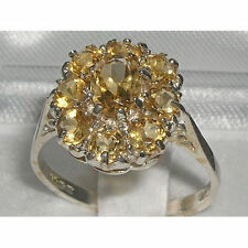 Citrine Natural Oval Sterling Silver Fine Gemstone Rings