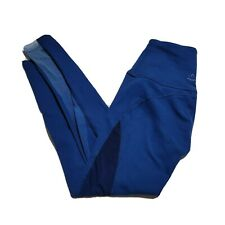 Beyond Yoga Womens Blue Ombre Mesh High Waisted Pull On Leggings Size XS