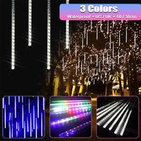 8 Tube 50cm 288 LED Strip Lights Meteor Shower Xmas Snowfall Tree Outdoor  !