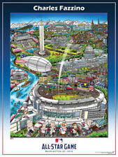 MLB All-Star Game WASHINGTON DC 2018 Official FAZZINO Pop Art POSTER Print