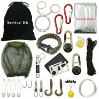 31pcs Outdoor Hiking Camping Emergency Survival Tool Set First Aid Gear Kit