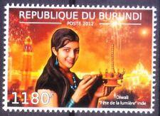 Diwali Hindu Festival, India, Burundi 2012 MNH