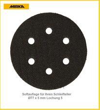 Mirka Softauflage 5-Loch Ø77x5 mm für Schleifen mit weniger Schleifdruck VE-5