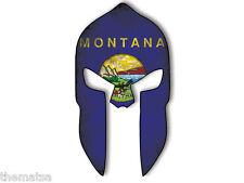 "MOLON LABE SPARTAN HELMET MONTANA FLAG 4"" STICKER DECAL MADE IN USA"