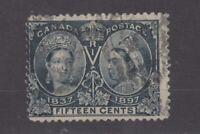Canada QV 1897 15c Jubilee SG132 Fine Used JK1261