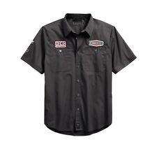 Harley-Davidson#1 Skull Patch Slim Fit Hemd Gr. 3XL - Grau, Herren kurzarm