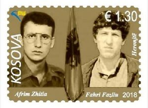 Kosovo Stamp 2018. Army Heroes - A.Zhitia & F.Fazliu. Set MNH