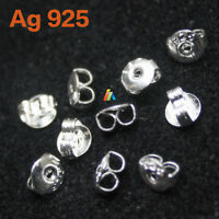 925 STAMPED STERLING SILVER BUTTERFLY EARRING BACKS SCROLLS STOPPER STUD PIN