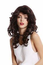 perruque Pour Femme Diva Brun Mixte lang ondulé volumineux perruque