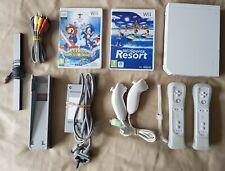 WHITE Wii console + 2 telecomandi + Wii Resort + Mario Sports Sonic Winter Olympic