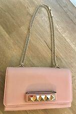 NWT VALENTINO GARAVANI Rockstud VA VA VOOM clutch bag in Water Rose Pink  $2,275
