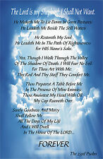 23rd Psalms Valley of Death Religious Poster 11x17 Laminated