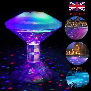 Underwater Hot Tub RGB Colorful LED Floating Bath Lights Lazy Spa Disco Lamp UK