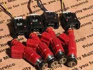 89-90 Nissan S13 240sx 2.4L SOHC KA24E Fuel Injectors Upgrade 4-Hole 30lb