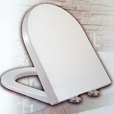 WC Sitz Toilettensitz Klodeckel Brille Absenkautomatik Schnellmontage Kunststoff