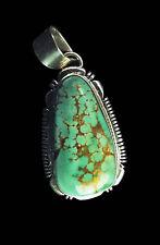 Pale Green Turquoise Pendant - Navajo Handmade