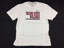 Nike Fresno State Bulldogs - White Cotton Short Sleeve Shirt (XL) - Used