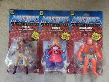3 MASTERS OF THE UNIVERSE ORIGINS TEELA ORKO BEAST MAN 2020 MATTEL MOTU HE-MAN