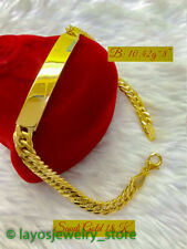 Brand New 18K Solid Gold , Everyday Low Price Fine ID's Bracelet, Gift for Him