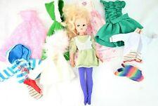 VTG Pedigree SINDY Doll 033055X Blonde Hair Blue Eyes EYELASH FLAW With Clothes