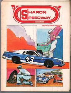 Sharon Speedway Auto Race Program Ohio-1980-Glenn Gault-Butch Miller-Sheldon ...