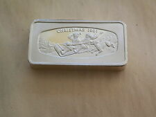 1981 franklin mint 1000 grains Christmas bar 65.4 grams