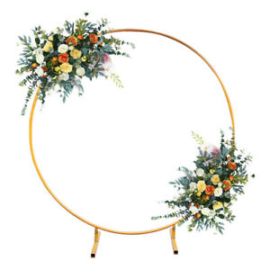 Wedding Arch Frame Moongate Gold Round Free Standing Flowers Balloon Circle Base