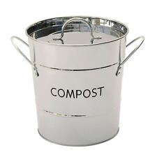 Eddingtons Stainless Steel Metal Compost Pail/Caddy - Food Waste Bin