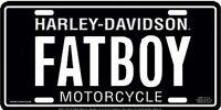 Harley Davidson FATBOY Fat Boy Embossed Metal Car License Plate Auto Tag