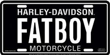 Harley Davidson FATBOY Fat Boy Embossed Metal Car License Plate Auto Tag