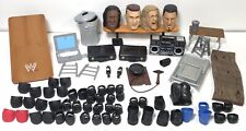 WWE Wrestling Lot Kneepads Table Chair Briefcase Bell Trashcan Laptop Vest Mic..