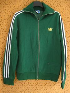 Veste Adidas Vert Made in France Ventex 80'S Vintage 1 Poche Jacket - M