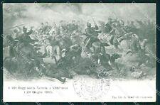 Militari Reggimentali 49º Reggimento Fanteria Villafranca cartolina XF4984