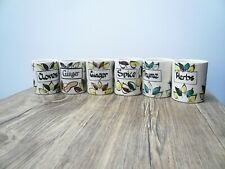 Vintage Spice Jars Geoffrey Maund Handpainted