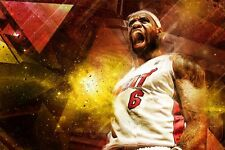 NBA Miami Heat LeBron James 24x36 Glossy Photo Poster