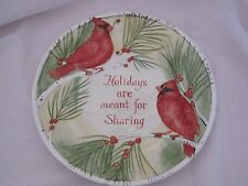 Fitz and & Floyd Holidays are Meant for Sharing Cookie Platter Plate MINT in Box