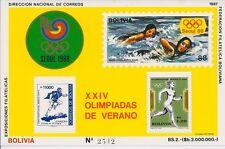 Bolivia 1988 - Sports Summer Olympics Seoul Swimming Running - MNH