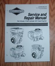 BRIGGS AND STRATTON V-TWIN CYLINDER OHV HEAD ENGINES SERVICE MANUAL