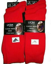 Nouveau Pack de 6 paires homme 6-11 rouge utilisation quotidienne lycra chaussettes confortables