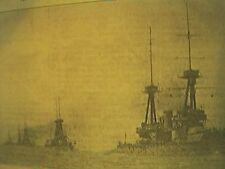 magazine item 1935 - Royal Navy HMS Neptune coronation review 1911