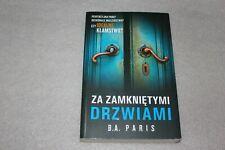 Za zamkniętymi drzwiami - Paris B.A. -  POLISH BOOK - POLSKA KSIĄŻKA