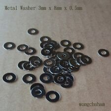 3mm x 8mm x 0.5 mm Metal Washer - 50 Pcs