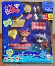 2007 RARE Littlest Pet Shop Picnic in the Park #588 Great Dane Dog #589 Mouse