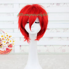 Kuroko's Basketball Seijuro Akashi red Anime cosplay short wig+a wig cap