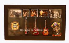 RGM8853 Slash Guns n Roses GNR Miniature Guitars in Shadowbox Frame