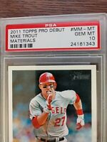 2013 Topps Heritage Mike Trout Memorable Moments MM-MT PSA10 ERROR as 2011 Topps