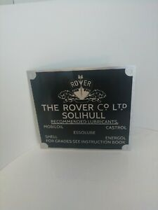 Land Rover Series 1 80 86 107 Bulkhead Lubricants Oil Information Plate 271940