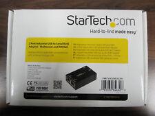 STARTECH. com 2 port USB a seriale rs232 rj45 adattatore al muro e guide DIN