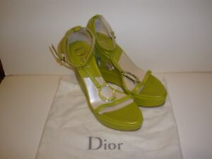 CHRISTIAN DIOR platform sandals, light green, 39 $565